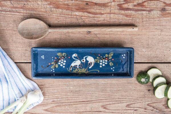 Schale für Kochlöffel STÖRCHE, blau