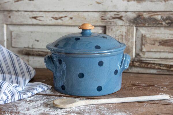Brotbacktopf / Cocotte LILLY, ø 22 cm, hellblau/blau