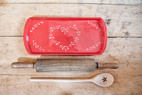 Kuchenplatte VON HERZEN, rot