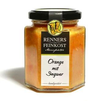 Fruchtaufstrich Orange mit Ingwer