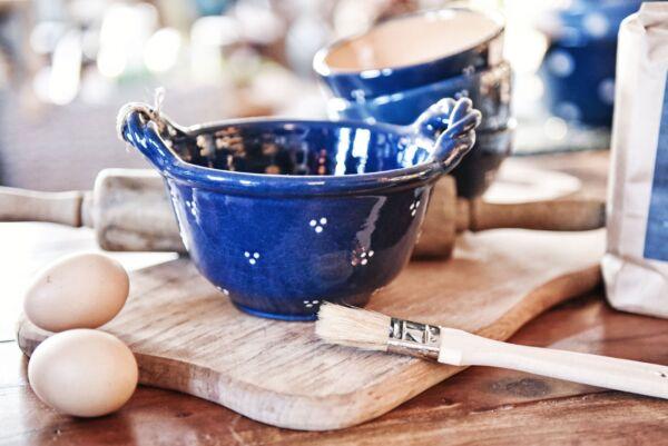 Schale mit gedrehten Henkeln AGATHE, blau
