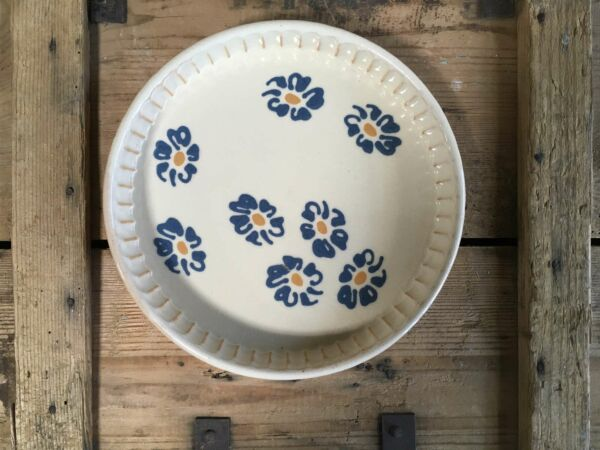 Tarteform petit MARGUERITES, ø 25 cm, weiß/hellblau