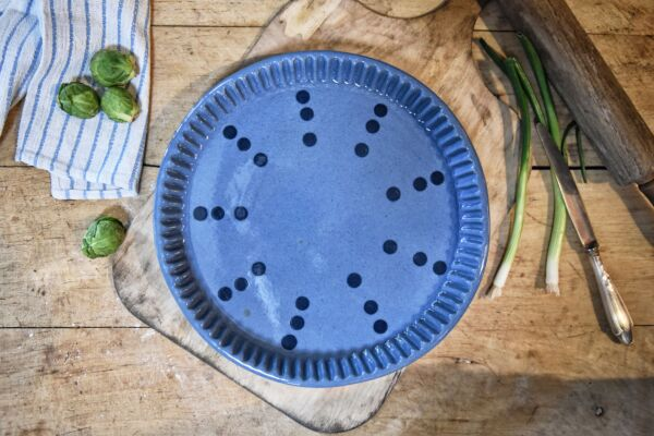 Tarteform COLETTE, ø 32 cm, hellblau