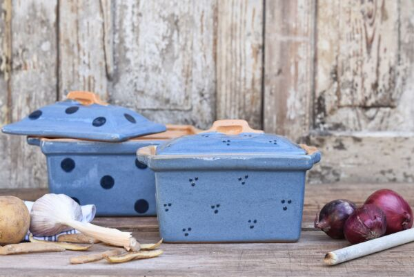 Pastetenform / Terrine No. 8 AGATHE, hellblau/blau