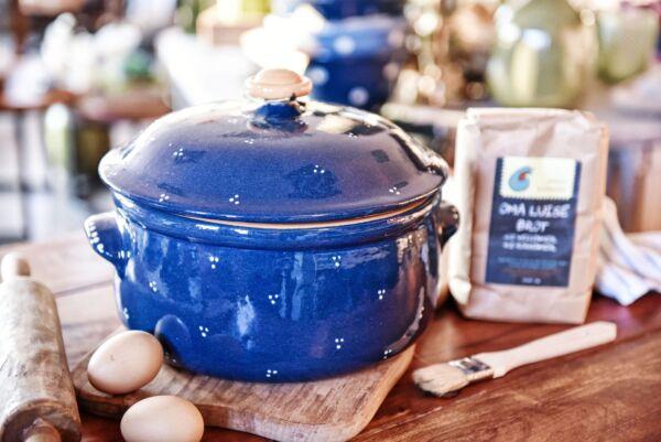 Brotbacktopf/Cocotte 'Agathe', blau