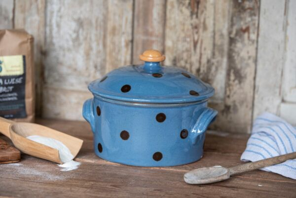 Brotbacktopf/Cocotte LILLY, ø 20 cm, hellblau/braun